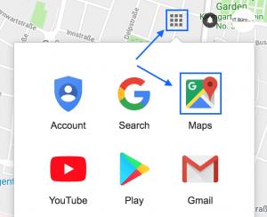 Google Maps aufrufen