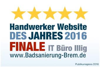 Handwerker Website des Jahres Sieger