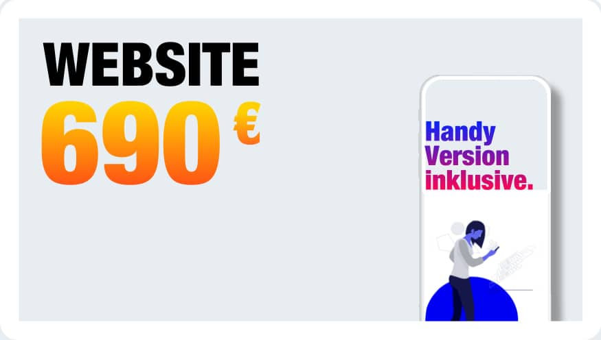 Firmenhomepage erstellen lassen 690 EUR Festpreis