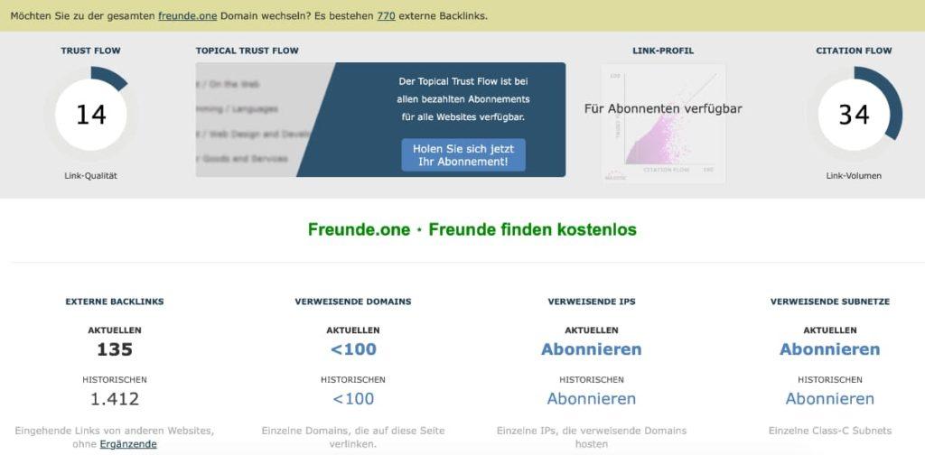 Backlink Check kostenlos