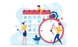 Zeitplan konzentriert arbeiten