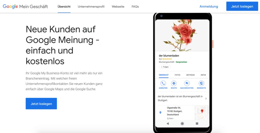 Google Mein Geschäft
