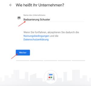 Google Unternehmen anmelden