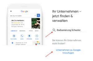 Google Unternehmensdaten